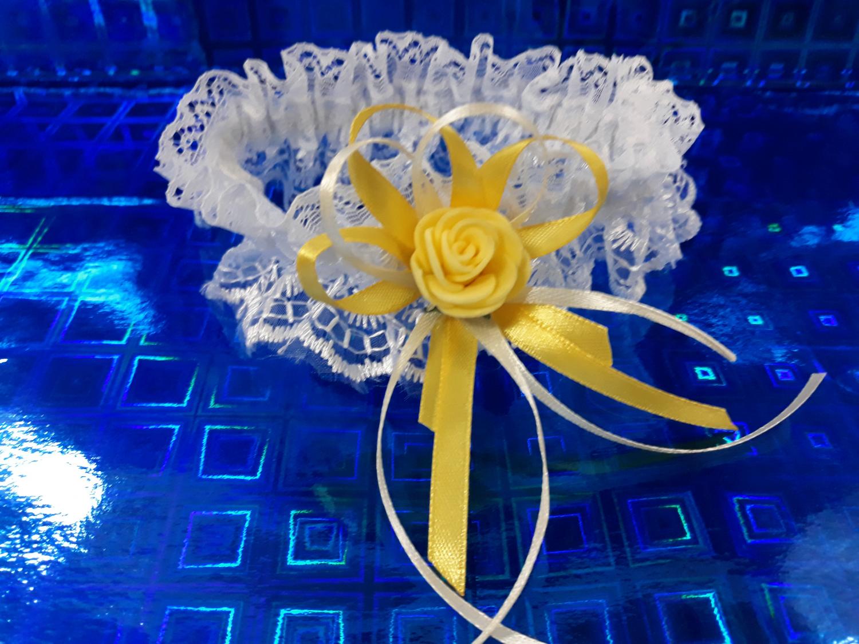 Свадебная подвязка №1 (желтый)