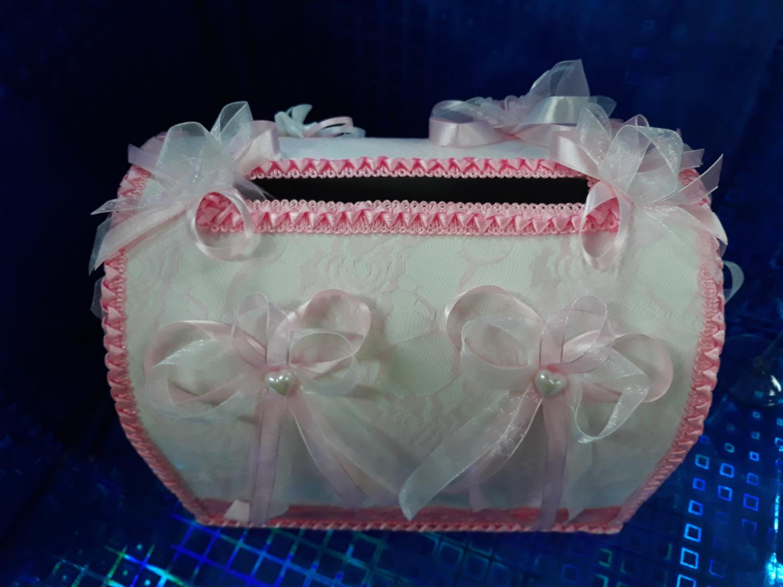Свадебный сундук №1 (розовый)