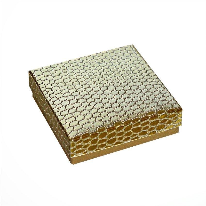 Коробка ювелир. Глиттер под кожу 9*9*2,5 (цвета в асортименте)