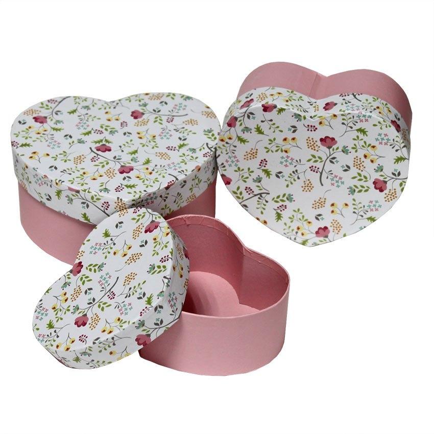 Набор коробок сердце 3/1  (в ассортименте) 15*13*7,2