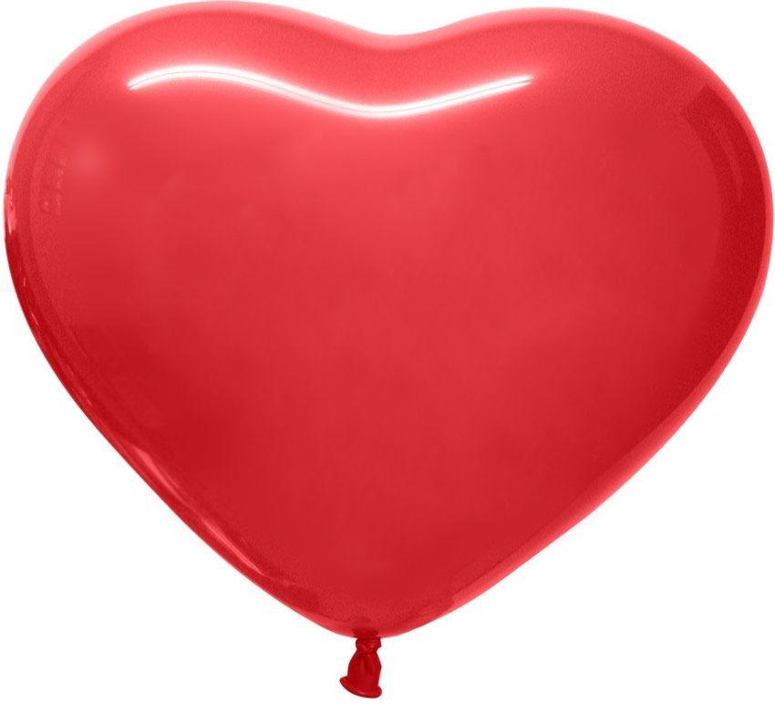 Шары сердце №12 пастель Веселуха 100шт Турция