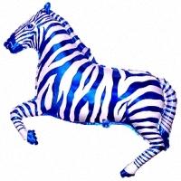 Зебра, Синий цвет