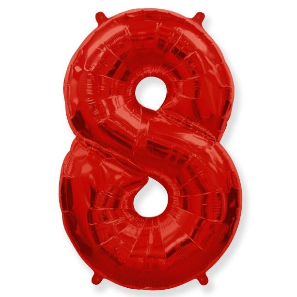 Фигура Цифра 8 красная 40