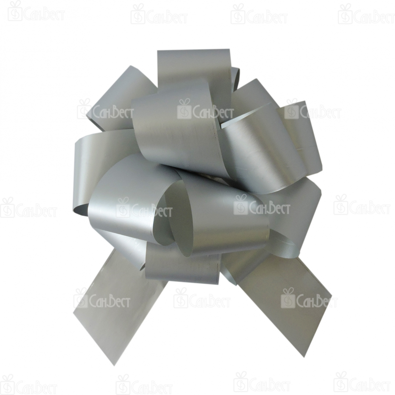 Бант-шар, матовый металл, 5 см