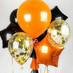 №18 Звезда,сердце,круг б/рис.Оранжевый